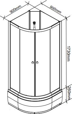 Душевая кабина Parly EBM92NR 90х90