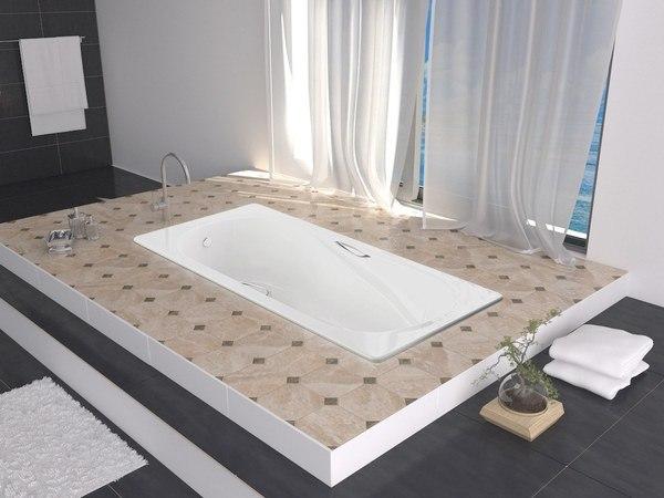 Чугунная ванна BLB America 160x80 (без отверстий для ручек)