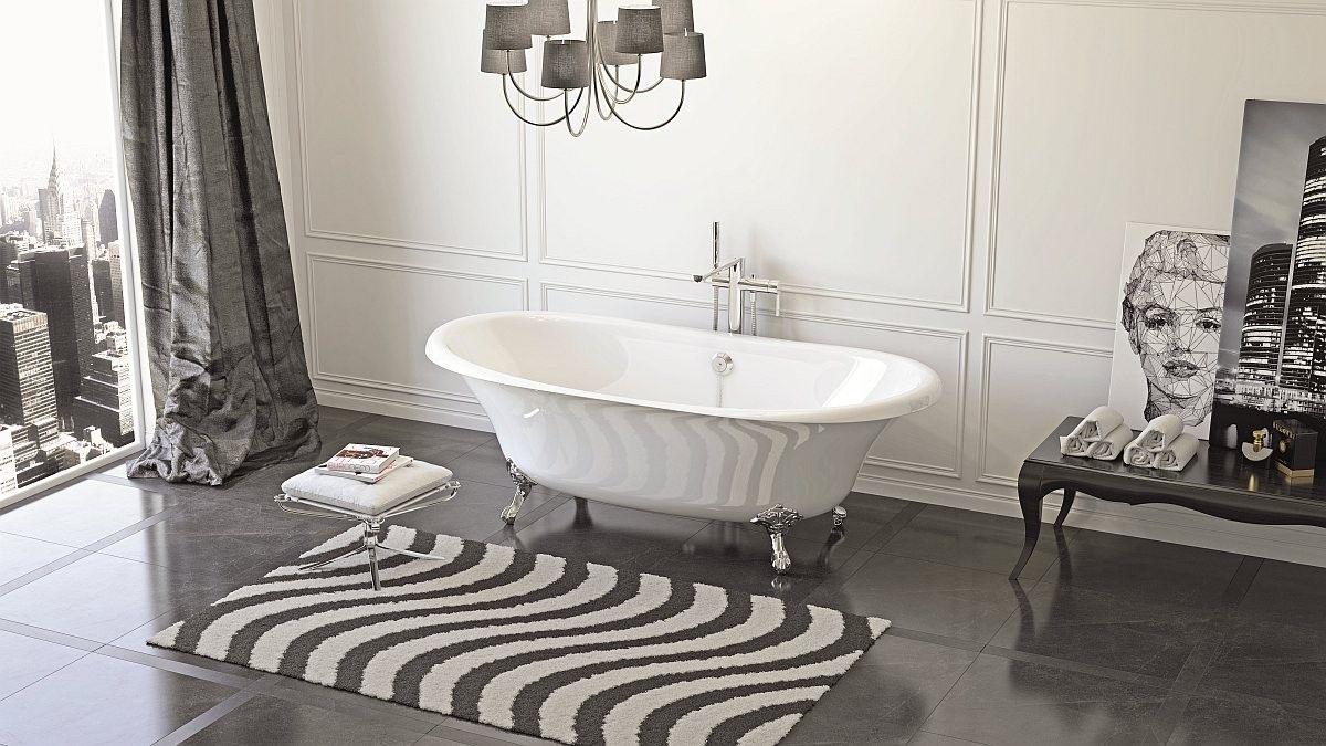 Чугунная ванна BLB USA 170x85 (бордо)