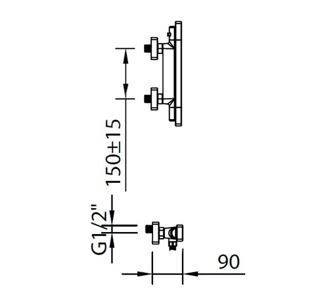Термостатический смеситель для душа Clever Nine Xtreme