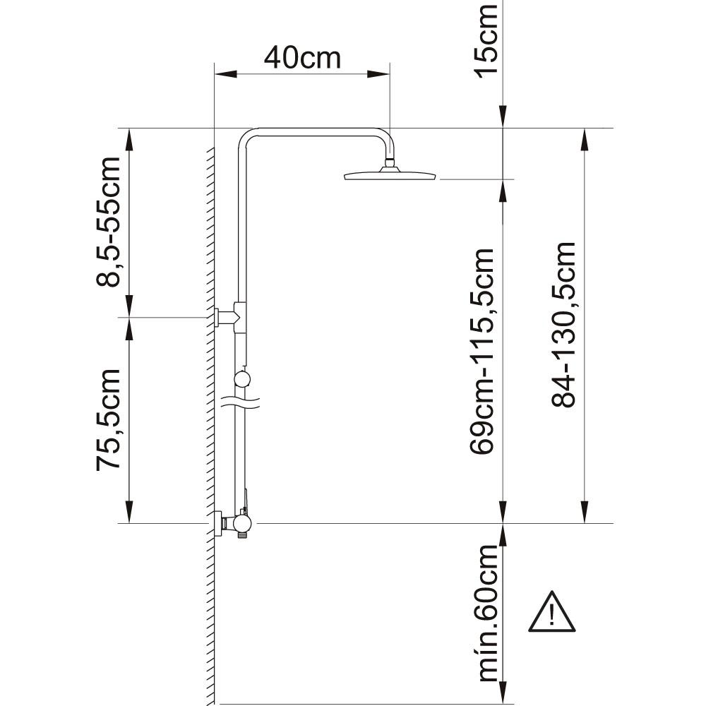 Душевая система Clever Panam Evo Xtreme 61019