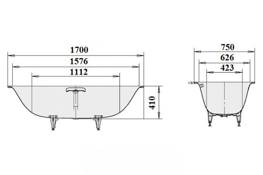 Стальная ванна Kaldewei SILENIO 170x75 (674)