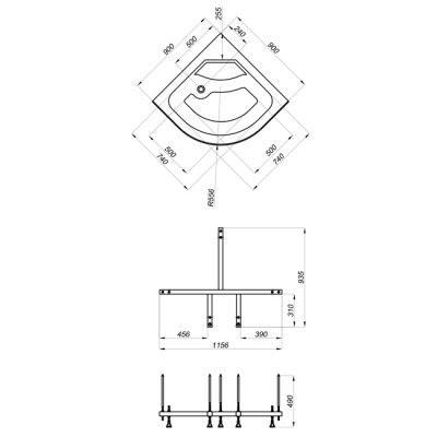 Душевой уголок Triton Стандарт Б 90x90 (мозаика)
