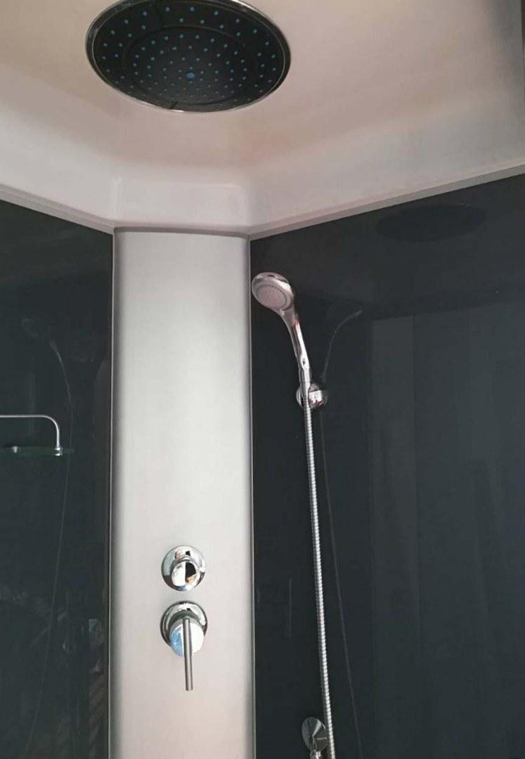 Душевая кабина Coliseum T-120 120x80 L (черная, тонированное стекло)