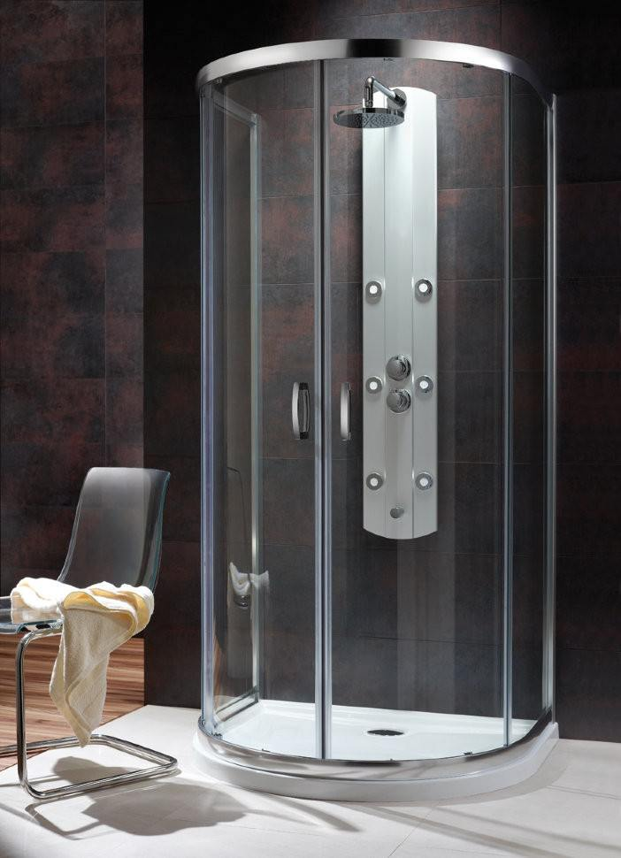 Душевой уголок Radaway Premium Plus P 100x90x190 (коричневое стекло)