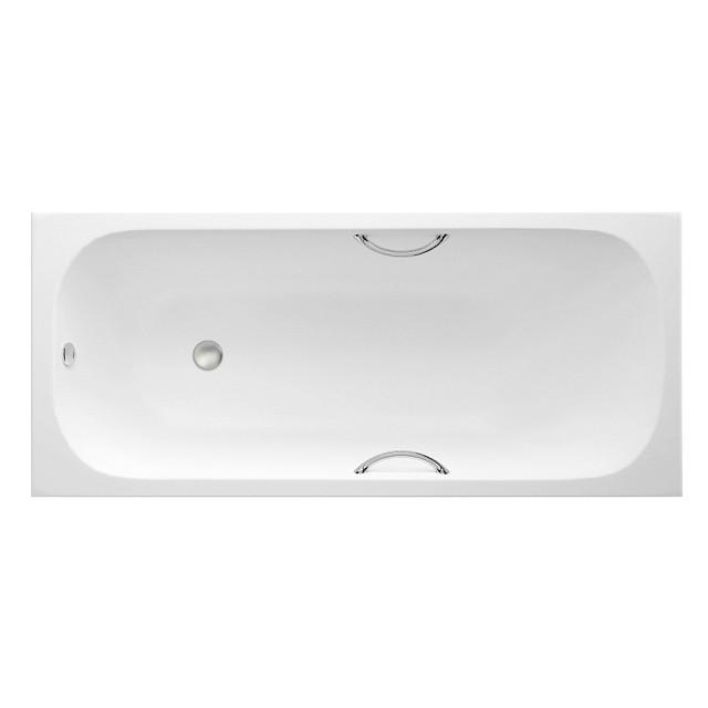 Ванна чугунная Wotte START 150x70 (с отверстиями для ручек, хромированные ручки)