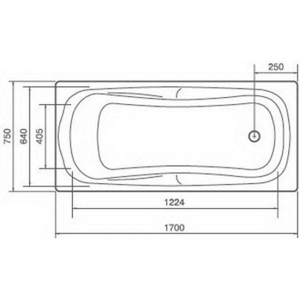 Акриловая ванна Artel Plast Марина 150x75