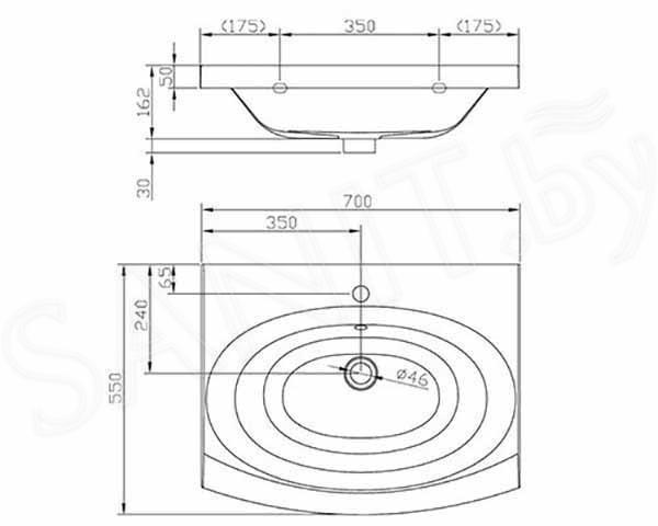 Умывальник Artel Plast APR010-14