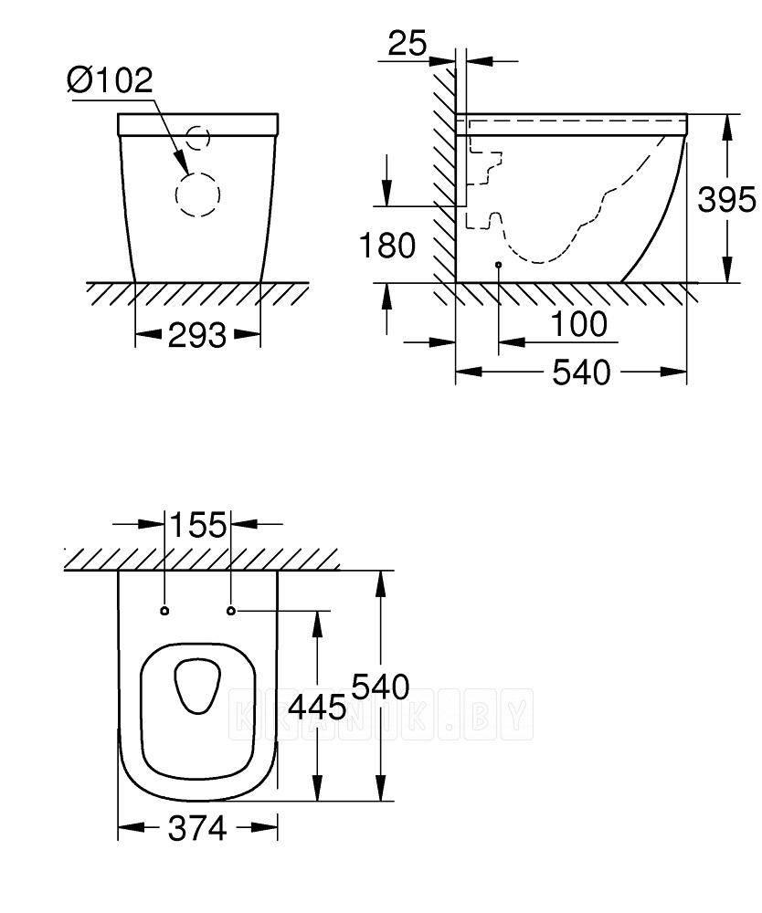 Унитаз приставной Grohe Euro Ceramic 39339000