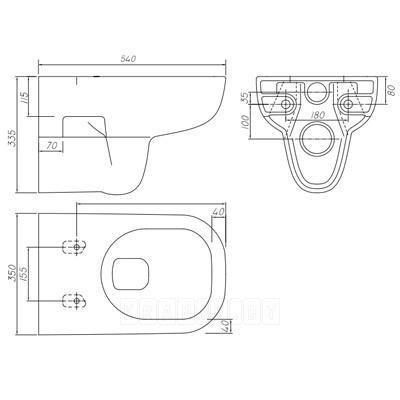 Унитаз подвесной Kolo TRAFFIC L93100000