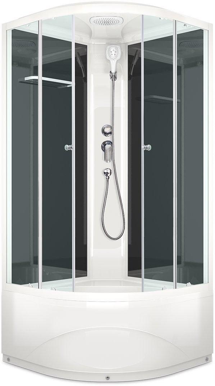 Душевая кабина Domani-Spa Delight 110 High 100x100 прозрачное стекло / черные стенки