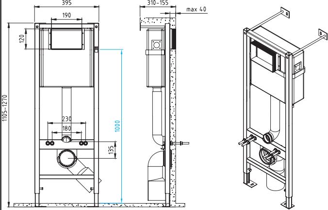 Комплект CERSANIT DELFI / SLIM / SET-DEL/Vec/S-DL/Ac-Cg-w