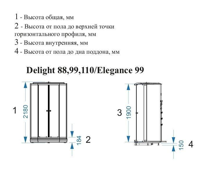 Душевая кабина Domani-Spa Delight 88 80x80