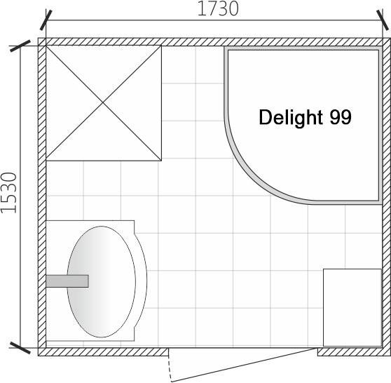 Душевая кабина Domani-Spa Delight 99 90x90 прозрачное стекло / черные стенки