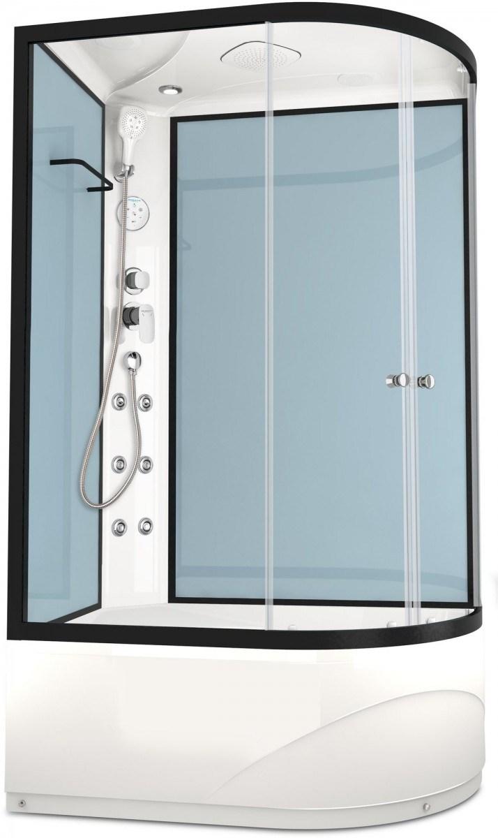 Душевая кабина Domani-Spa Delight 128 High L 120x80 прозрачное стекло / голубой