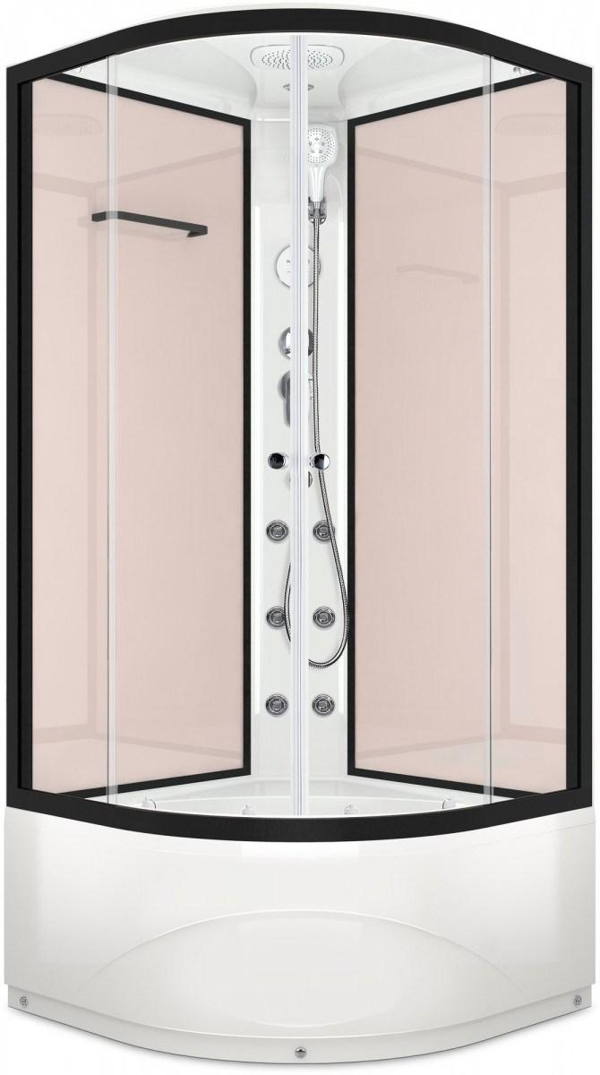Душевая кабина Domani-Spa Delight 99 High 90x90 прозрачное стекло / розовый