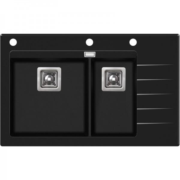 Кухонная мойка AquaSanita Delicia Plus GQD 150 B 601 AW Black Metallic