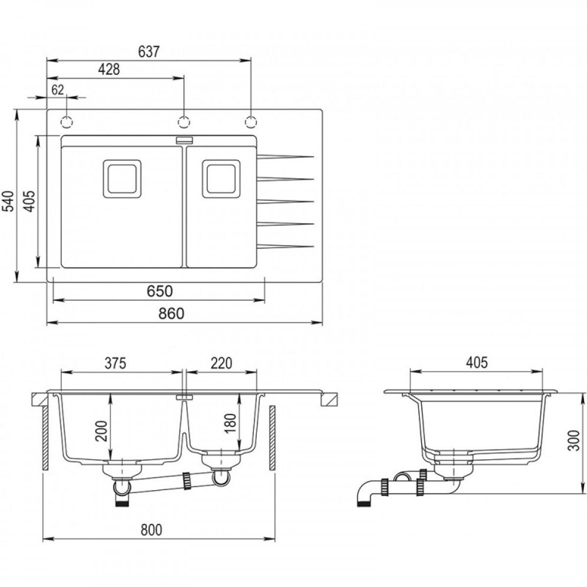 Кухонная мойка AquaSanita Delicia Plus GQD 150 W 710 AW Alba