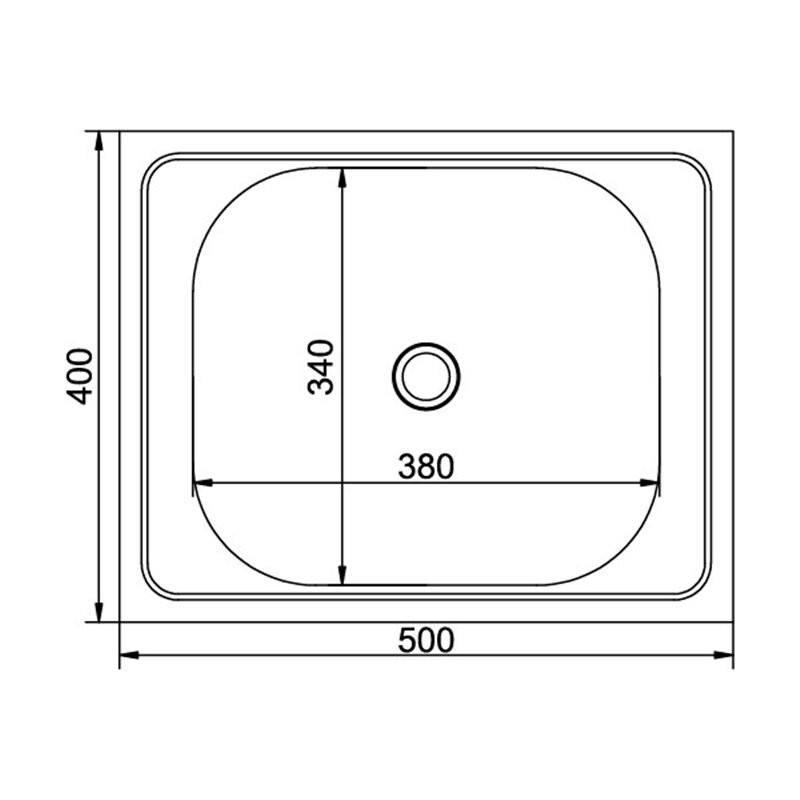 Кухонная мойка Mixline 40x50 0,4 вып 1 1/2