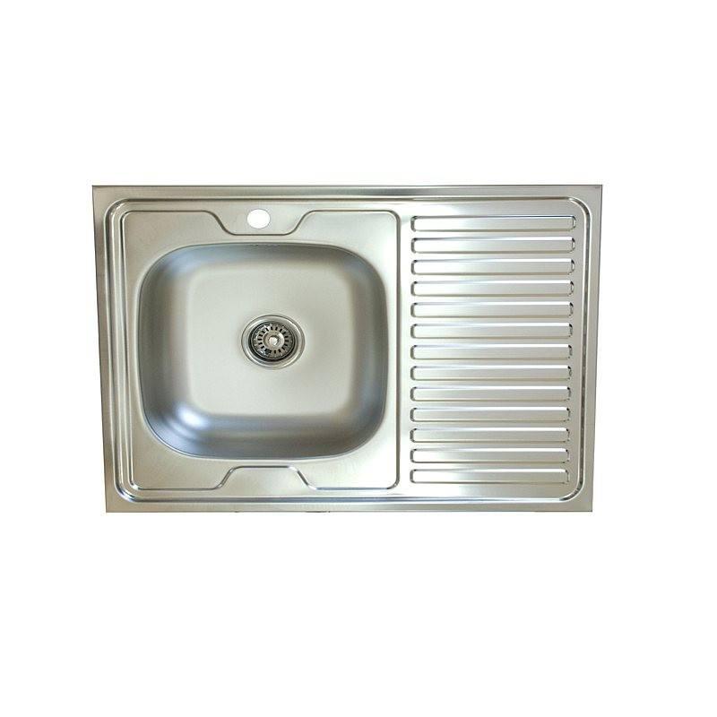 Кухонная мойка Mixline Эконом 60x80 (0,4) лев вып 1 1/2