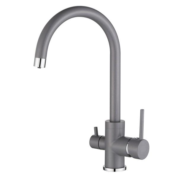 Смеситель для кухни AquaSanita Sabiaduo 2963 202 Alumetallic