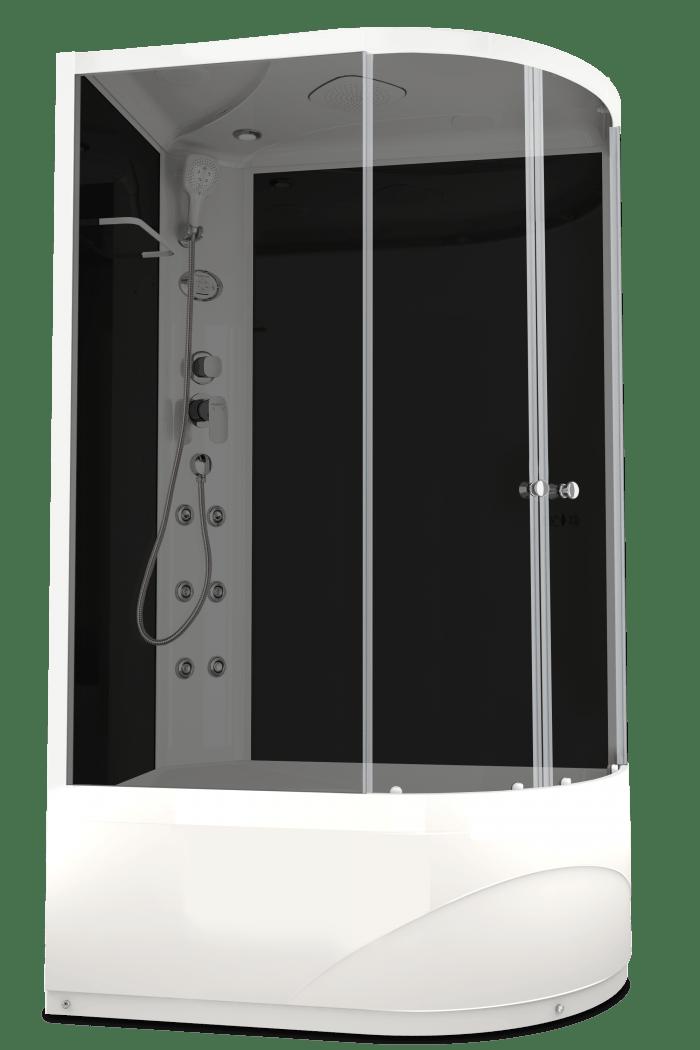Душевая кабина Domani-Spa Delight 128 High L 120x80 тонированное стекло / черный