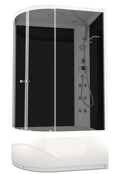 Душевая кабина Domani-Spa Delight 128 High R 120x80 тонированное стекло / черный