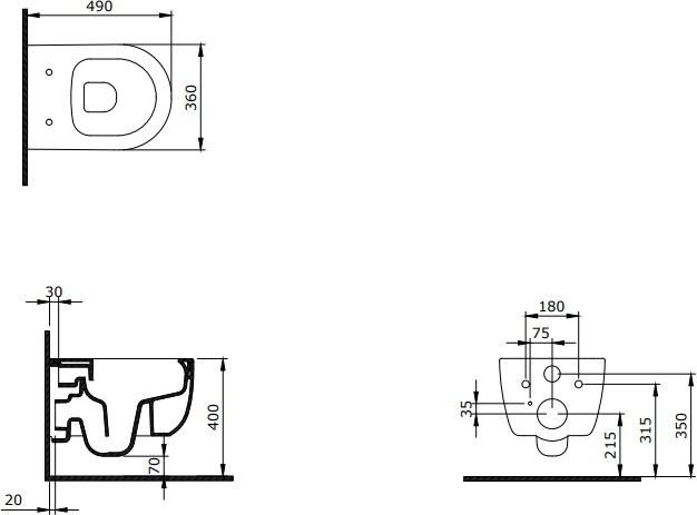 Унитаз подвесной Bocchi V-Tondo Compacto Rimless 1417-004-0129
