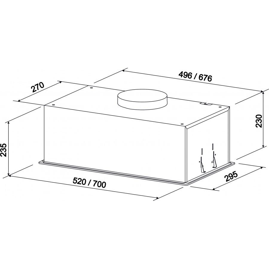 Кухонная вытяжка ZorG Technology Stella White (52см, 1200м3)