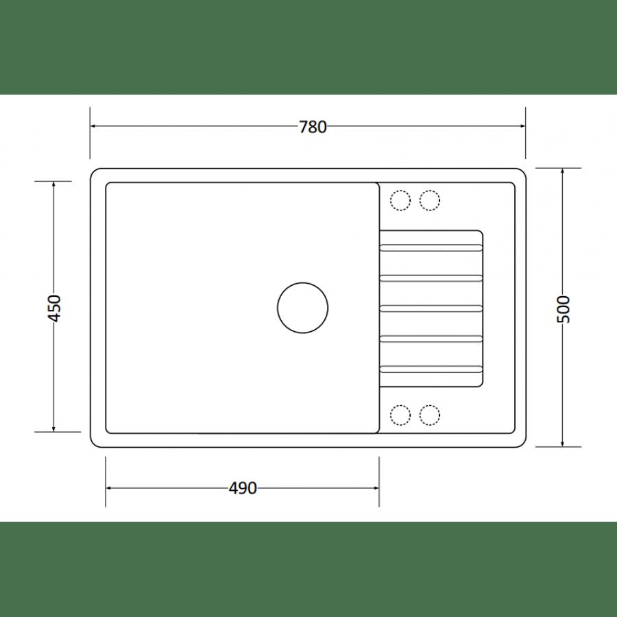 Кухонная мойка ZorG Dello 78 (белый камень)