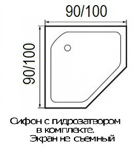 Душевая кабина River Penta 100 К 100х100