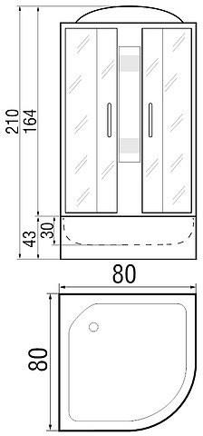 Душевая кабина River Rein 80/43 МТ 80x80