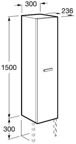 Шкаф-пенал Roca Victoria Nord ZRU9000025 150 венге