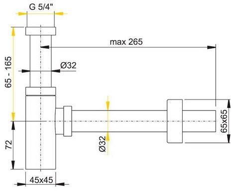 Сифон для умывальника Alcaplast A401