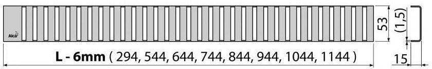 Решетка для трапа Alcaplast LINE-850L