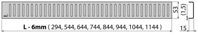Решетка для трапа Alcaplast PURE-650L