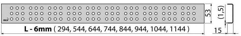 Решетка для трапа Alcaplast CUBE-750L