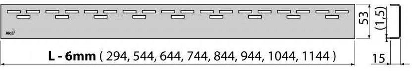 Решетка для трапа Alcaplast HOPE-850L