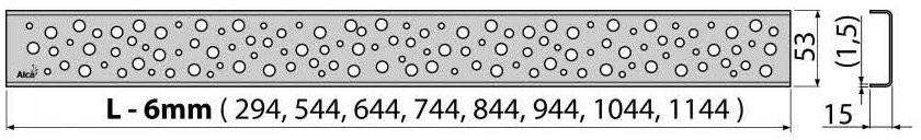Решетка для трапа Alcaplast BUBLE-750L