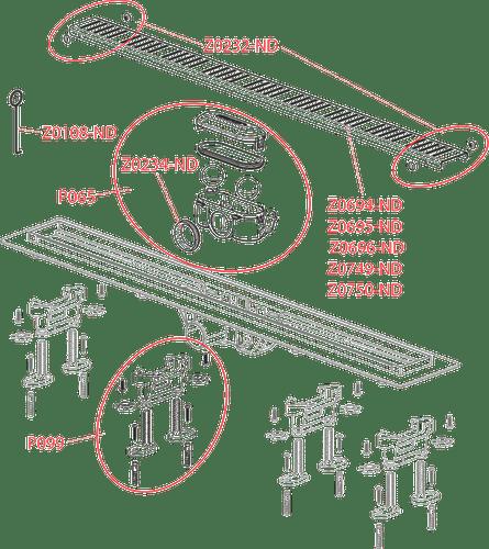 Водоотводящий желоб с решеткой Alcaplast APZ10-850M