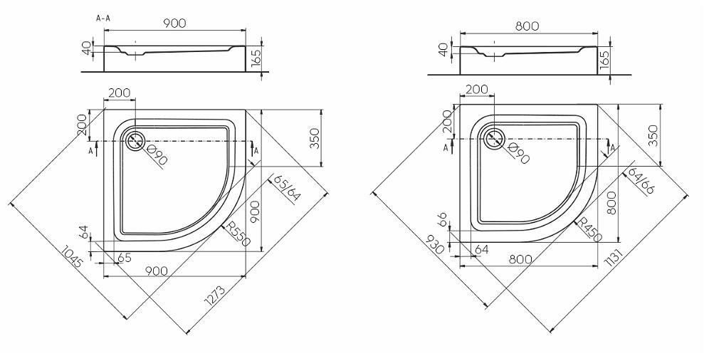 Душевой поддон Kolo First 90x90 см (XBN1690000)