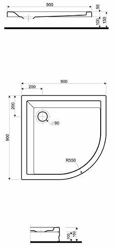 Душевой поддон Kolo Pacyfik 90x90 см (XBN0790000)