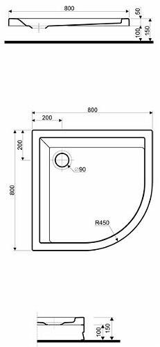 Душевой поддон Kolo Pacyfik 80x80 см (XBN0780000)