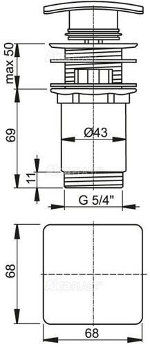 Донный клапан Alcaplast A393