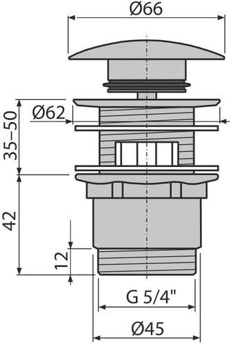 Донный клапан Alcaplast A390