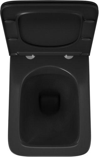 Унитаз подвесной OWL Vatter Ruta-H Matt Black 53x36,5 безободковый, сиденье Duroplast