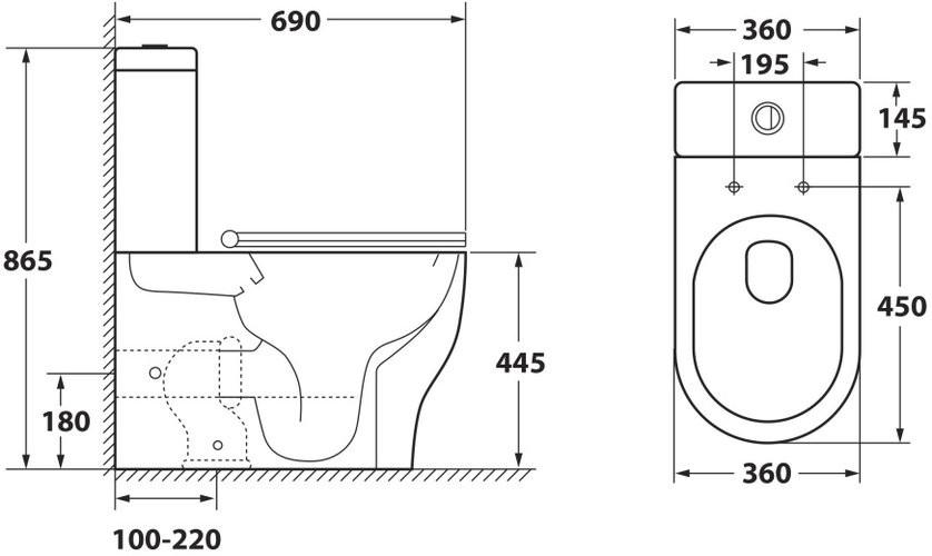 Унитаз-компакт OWL Tid Cirkel-G 69x36 сиденье Duroplast с микролифтом