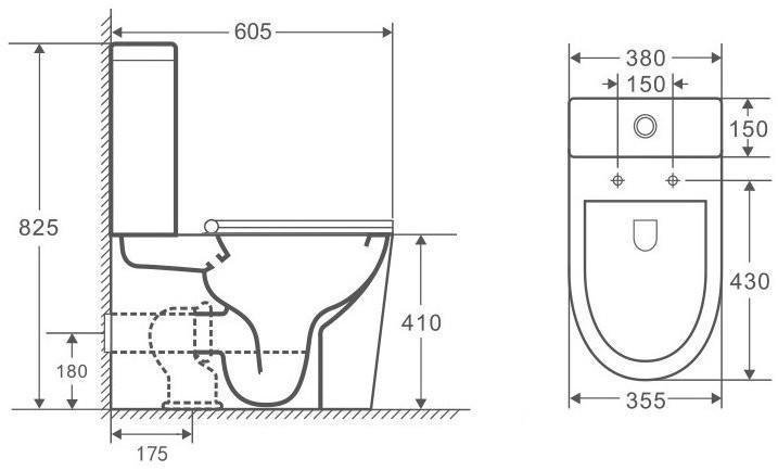 Унитаз-компакт OWL Vind Cirkel-G 60,5x38 сиденье Duroplast с микролифтом