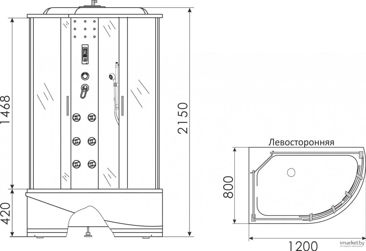 Душевая кабина Erlit ER4512TPL-C3 120x80