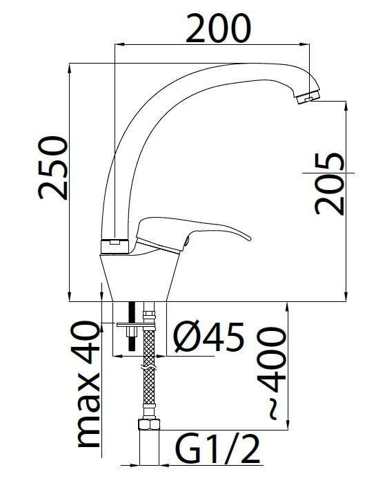 Смеситель для кухни Rubineta Optima-33